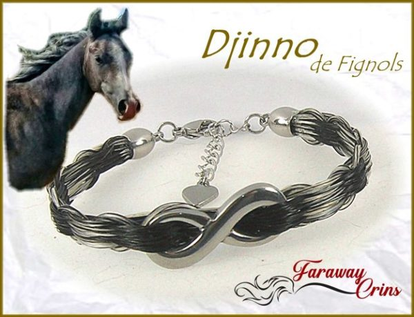 bracelet crins bijoux